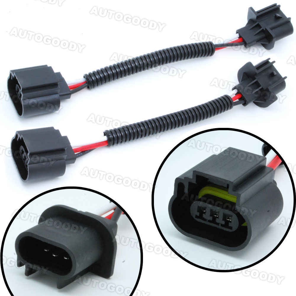medium resolution of h13 9008 wiring harness socket connector plug extension headlight connector wiring 3 pin headlight connector wiring