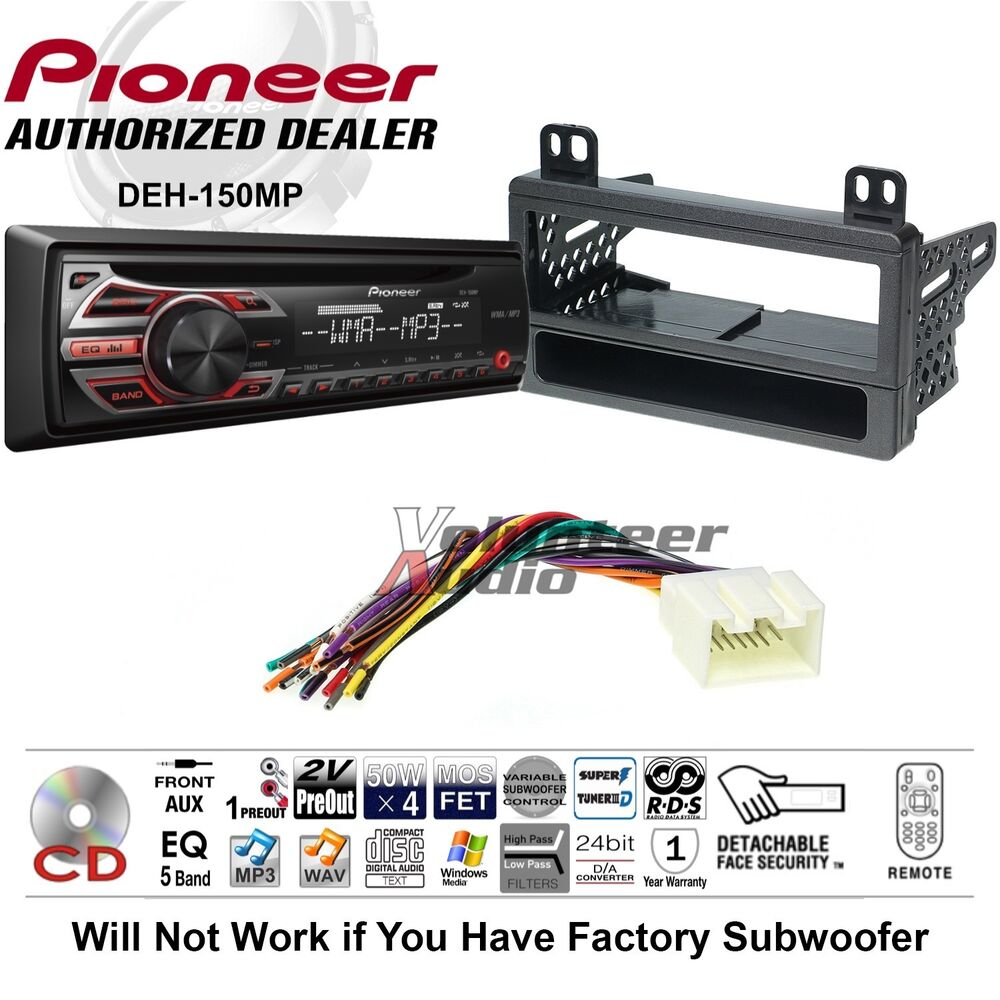hight resolution of  boss car stereo wiring diagram pioneer cd car stereo radio kit dash installation mounting