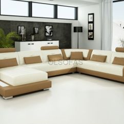 Buy Corner Sofa Uk Knoll Modern Large Leather Suite New Modular Settee ...