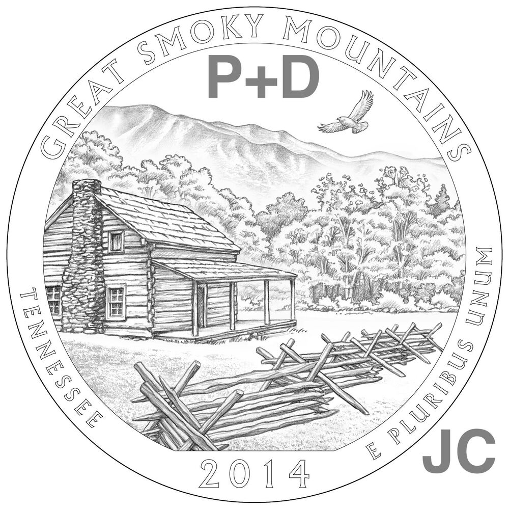 2014 P&D Great Smoky Mountains National PARK QUARTER STATE