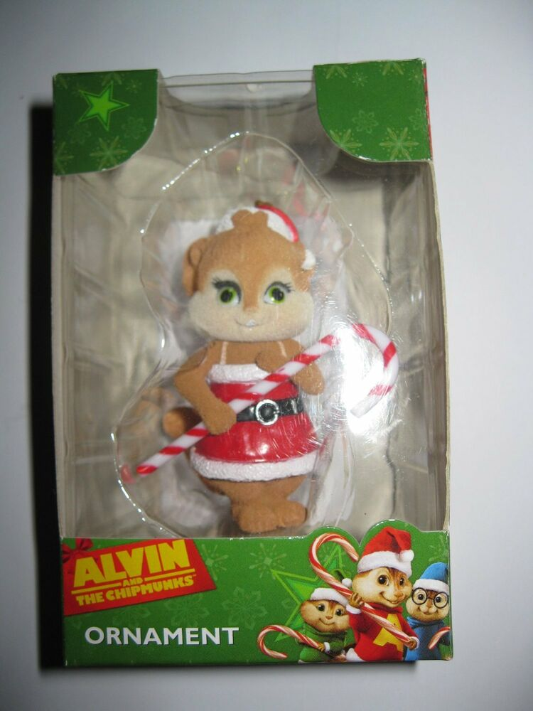 Alvin And The Chipmunks Christmas Ornament Flocked