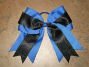 """blue & black glitter"" cheer"