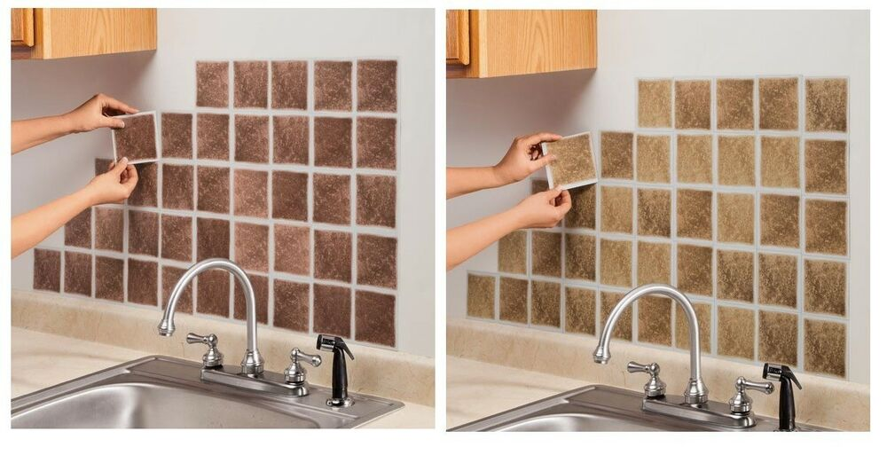 Self Adhesive Wall Tiles Set Of 27, Easily Decorate