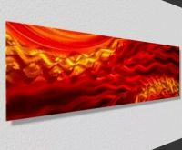 Orange Contemporary Abstract Metal Wall Art Accent Home ...