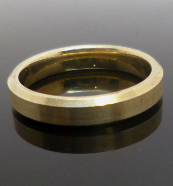 Gold Plated Sterling Silver 3mm Band Ring With 925 Stamp