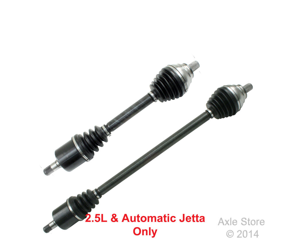 2 New CV Axles VW Jetta 2006,2007,2008 2.5L Automatic Both