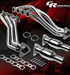 details about pair stainless manifold exhaust header for 99 04 ford f150 heritage 5 4l engine [ 1000 x 1000 Pixel ]