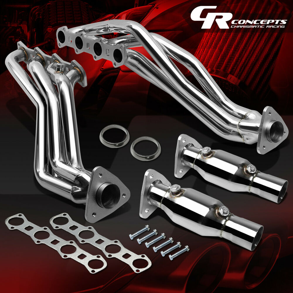 hight resolution of details about pair stainless manifold exhaust header for 99 04 ford f150 heritage 5 4l engine
