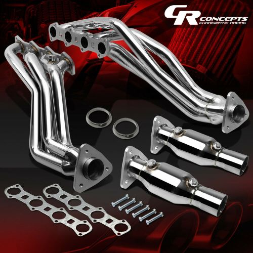 small resolution of details about pair stainless manifold exhaust header for 99 04 ford f150 heritage 5 4l engine