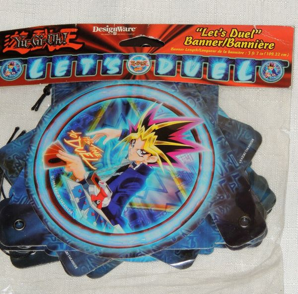Yu-gi- Blue 1-paper Banner 3ft Long Party Supplies