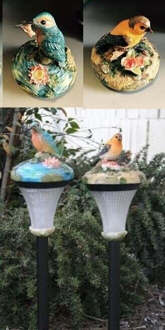 6 Outdoor Garden Decor Solar Bird Landscape Light Lamp Led