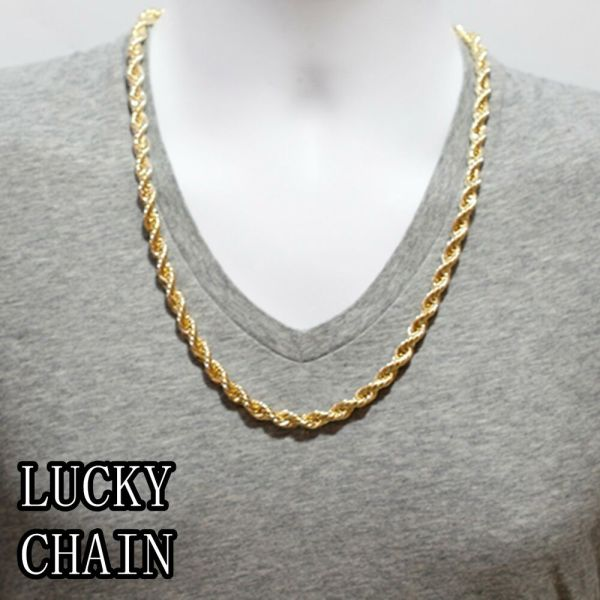 14k Gold Plated Rope Chain Necklace 24
