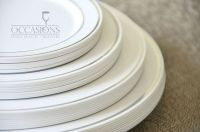 Elegant Disposable Dinnerware Plastic Wedding Plates