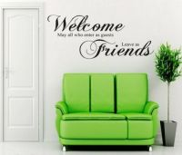 Wall Sticker Office Welcome Guest Friend Home Decor Room ...