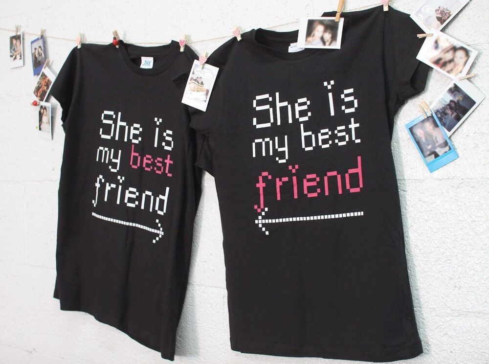 Best Friend Matching Shirts  She Is My Best Friend TShirts for BFF  eBay