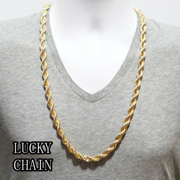 14k Gold Plated Rope Chain Necklace 30