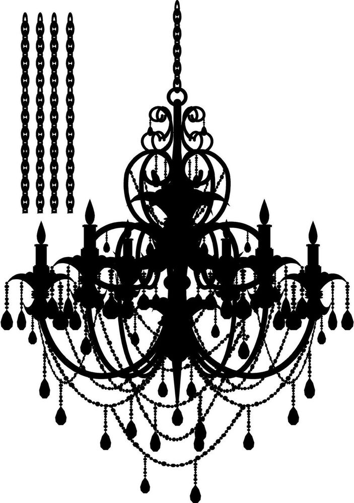 LARGE CHANDELIER Vinyl Lettering Words Wall Decal Decor
