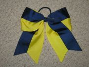 """two-tone navy & yellow"" cheer"