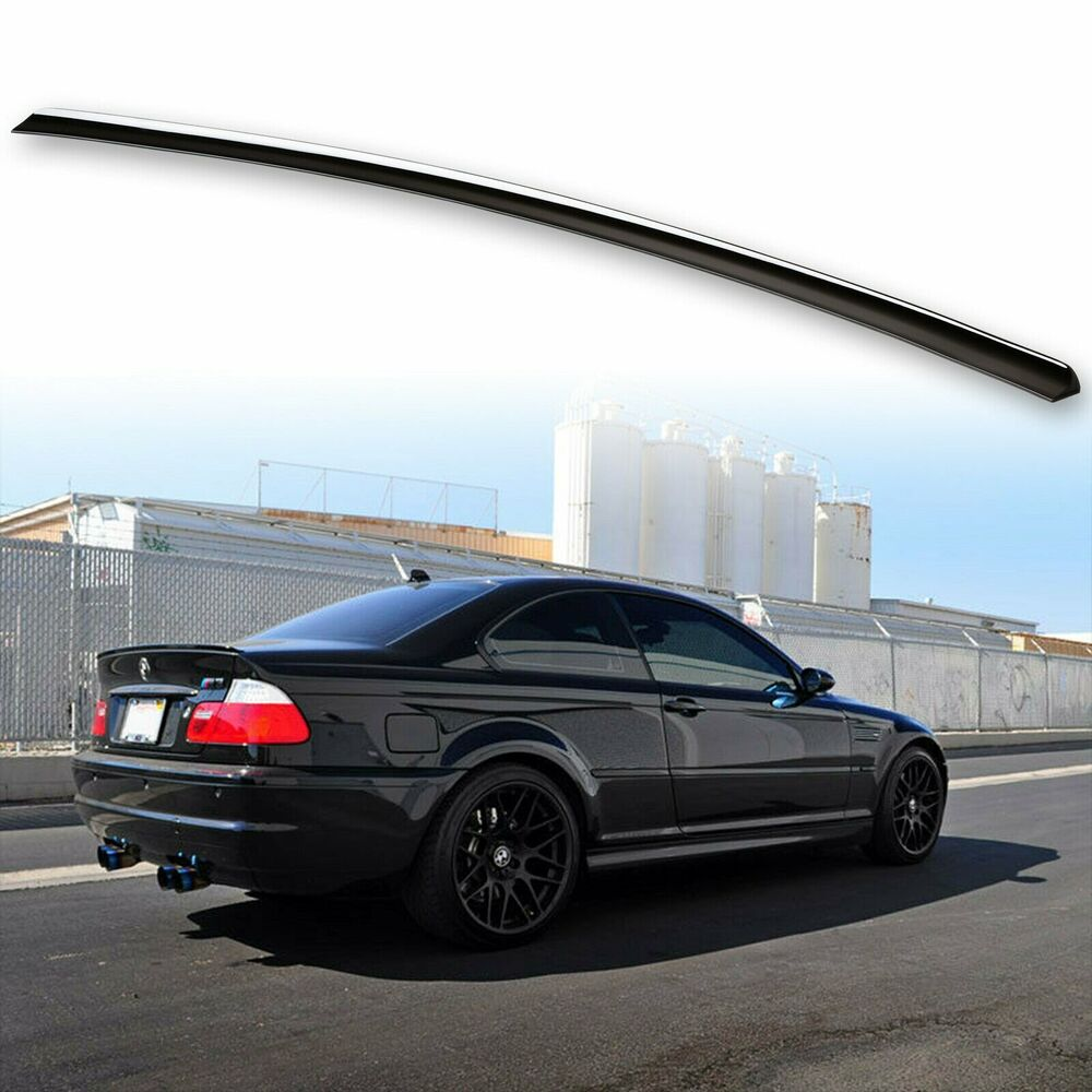 * Painted For BMW E46 Trunk lip spoiler Sedan Coupe M3 Jet