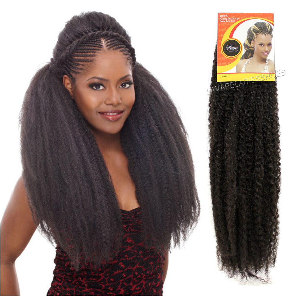 Femi Collection Kinky Twist Braid Kanekalon Synthetic