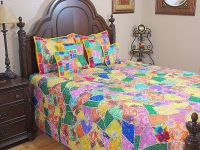India Inspired Decorative Bedding Ethnic 7p Sari Bohemian ...