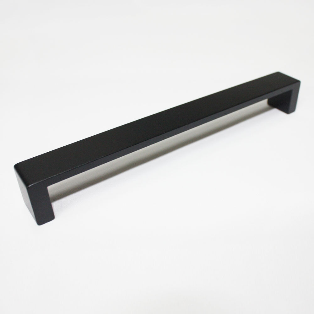 Black Solid 160 mm Metal Kitchen Cupboard Handles Cabinet