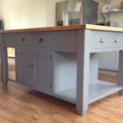 Free Standing Kitchen Islands With Seating Wholesale Cabinets Nj Painted Island Unit   Ebay