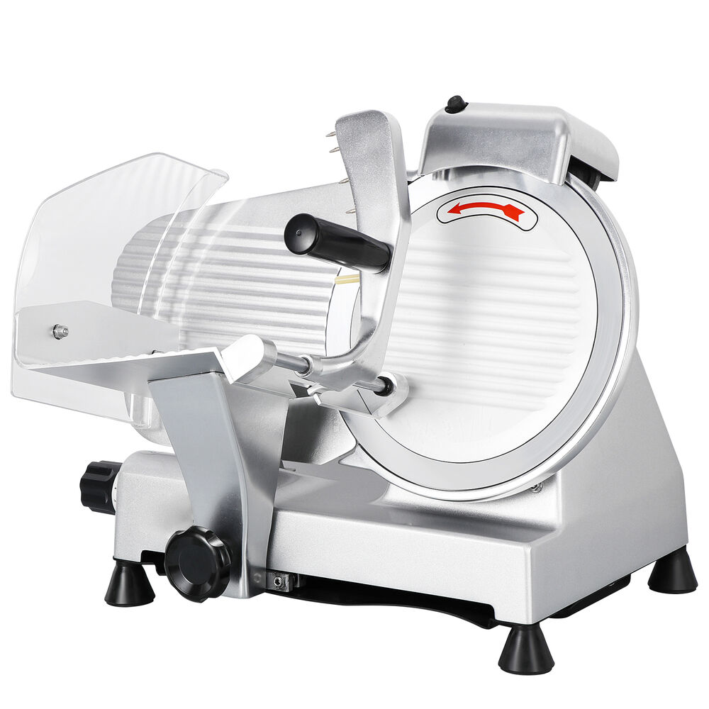 10 Blade 240W Commercial Meat Slicer Electric Deli Slice