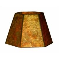UpgradeLights Amber Mica 12 Inch Hexagonal Drum Lampshade ...