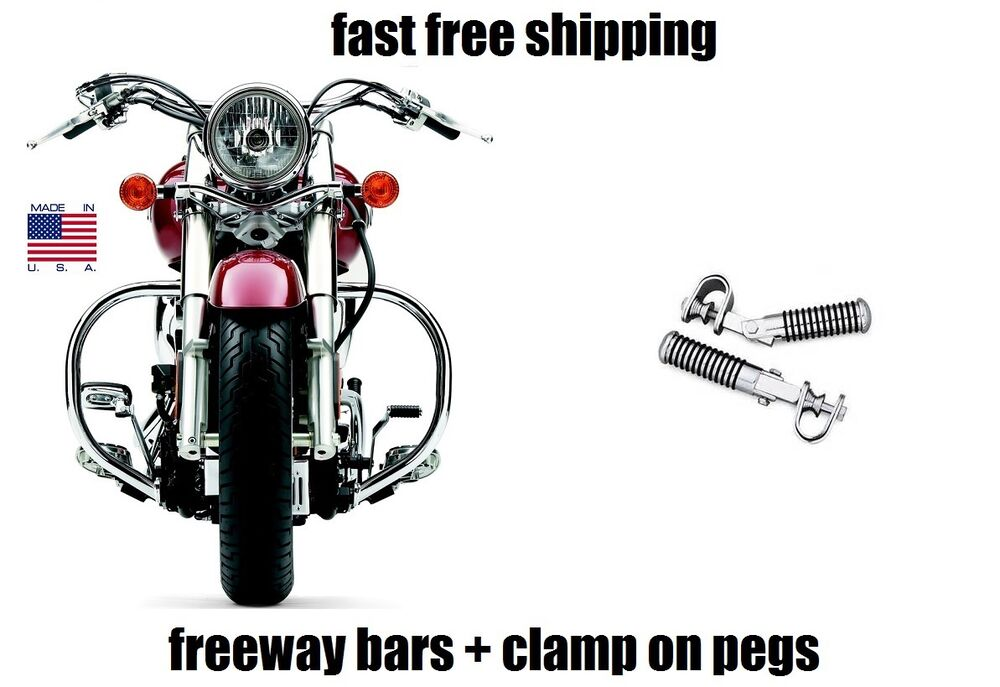 NEW COBRA FREEWAY BARS AND HIGHWAY PEGS FOOTPEGS YAMAHA V