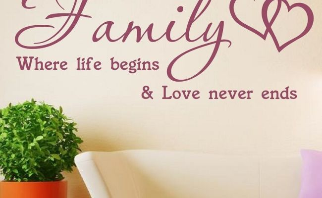Wall Art Quote Wall Sticker Family Where Life Begins Vinyl
