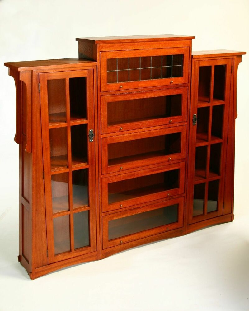 MISSION OAK LAWYERS BOOKCASE With PIERS AC9264 / 9265 ON