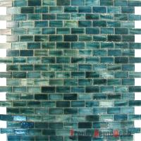 SAMPLE - Blue Recycle Glass Mosaic Tile backsplash Kitchen ...