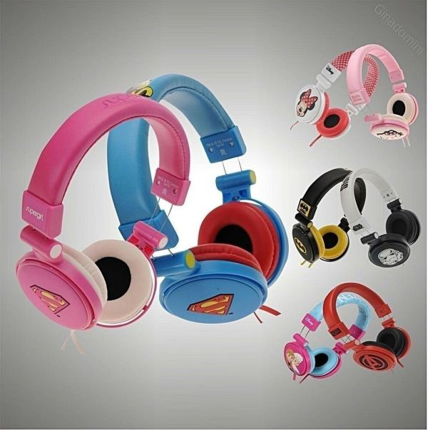 Character Headphones Superman Batman Kitty Print