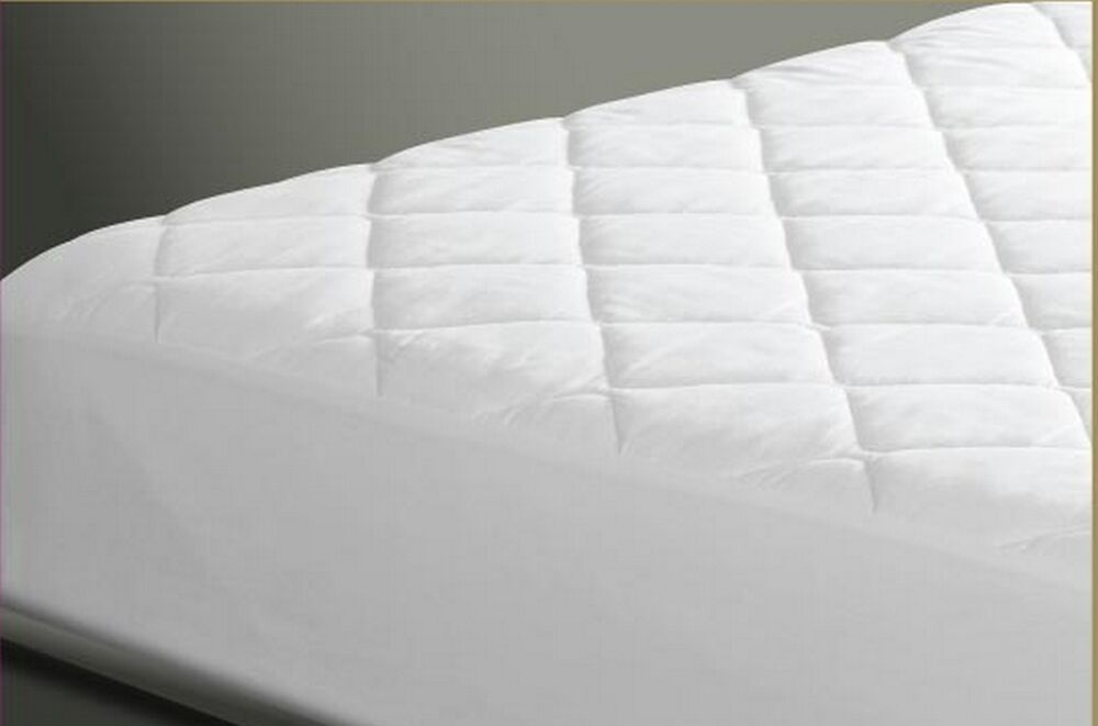 Quilted Mattress Pad Topper Cover Protector to 15 Poly