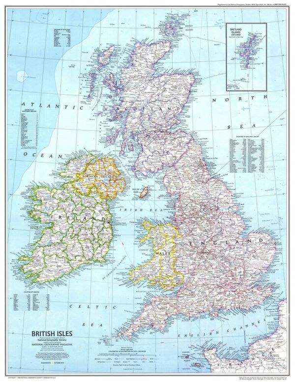 Great Britain GB Map Giant Poster A0 A1 A2 A3 A4 Sizes