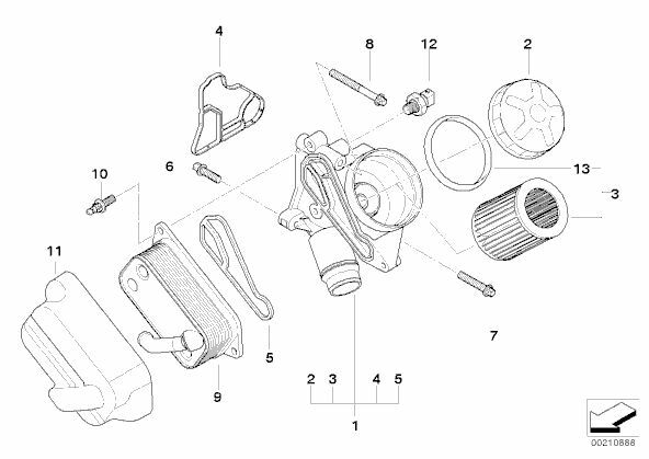 BMW OIL FILTER HOUSING GASKET E81 E82 E87 125i 130i E90