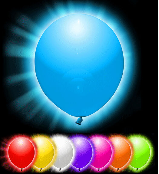 LED Balloons Glow in the Dark Light Up Party Balloon