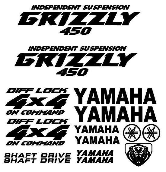 Sticker Decal Kit for Yamaha Grizzly 450 Fender Tank