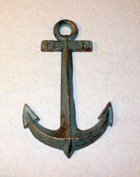 New~Small CAST IRON Anchor Wall Hanging Decor Nautical ...