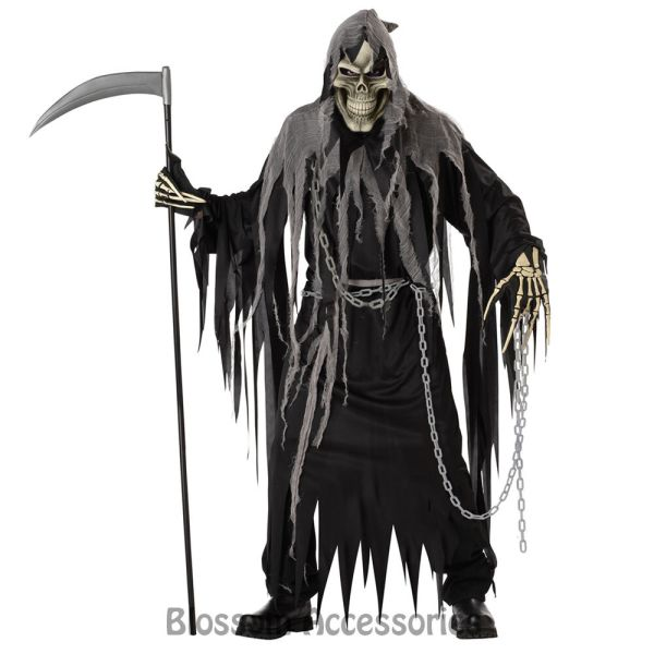 C625 Grim Costume Scary Death Reaper Skeleton Monster