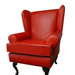 Grey Wing Chair Office Qoo10 Arm Chair/ Back Fireside Red Faux Leather | Ebay