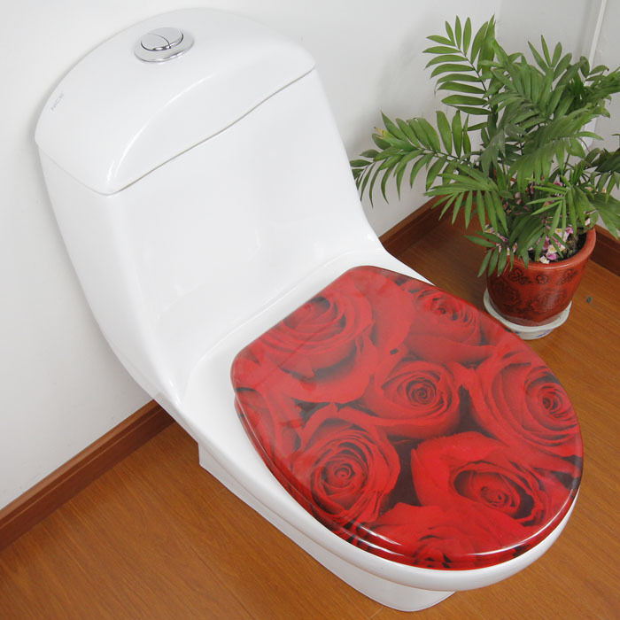 Red Rose Bathroom Accessories Safety Resin Toilet Seat Nice Decoration Best Gift  eBay