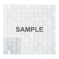 4x4 White Mother Of Pearl Sell Iridescent Glass Mosaic ...