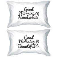 His and Hers Matching Pillowcases - Good Morning Couple ...
