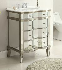 30 All Mirrored Asselin Bathroom Sink Vanity # K2274