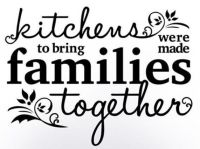 KITCHENS BRING FAMILIES TOGETHER Wall Art Decal Quote ...