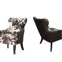 Animal Print Accent Chairs Mobility Chair Accessories New Cowhide Faux Leather Upholstered Club Arm Dining Room | Ebay