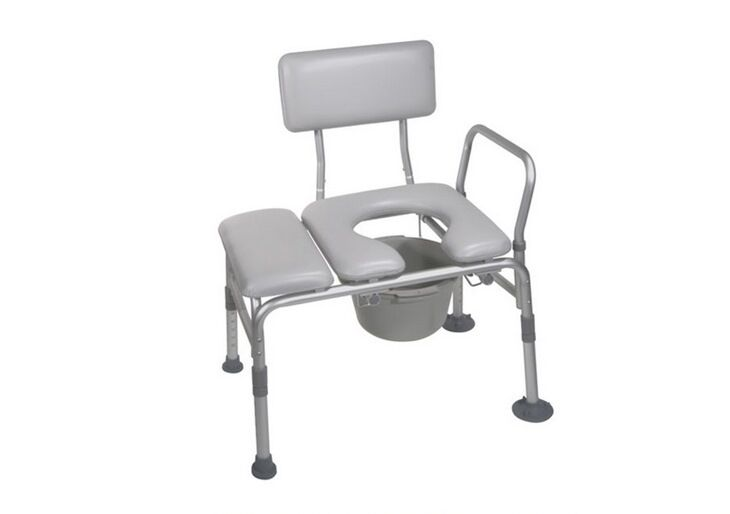 NW Handicap Padded Seat Transfer Chair Bench Commode