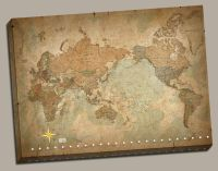 Wall Art Canvas Picture Print - Antique Old Vintage World ...